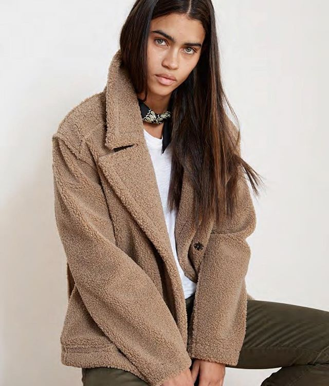 The coziest coat we ever did see 🤗