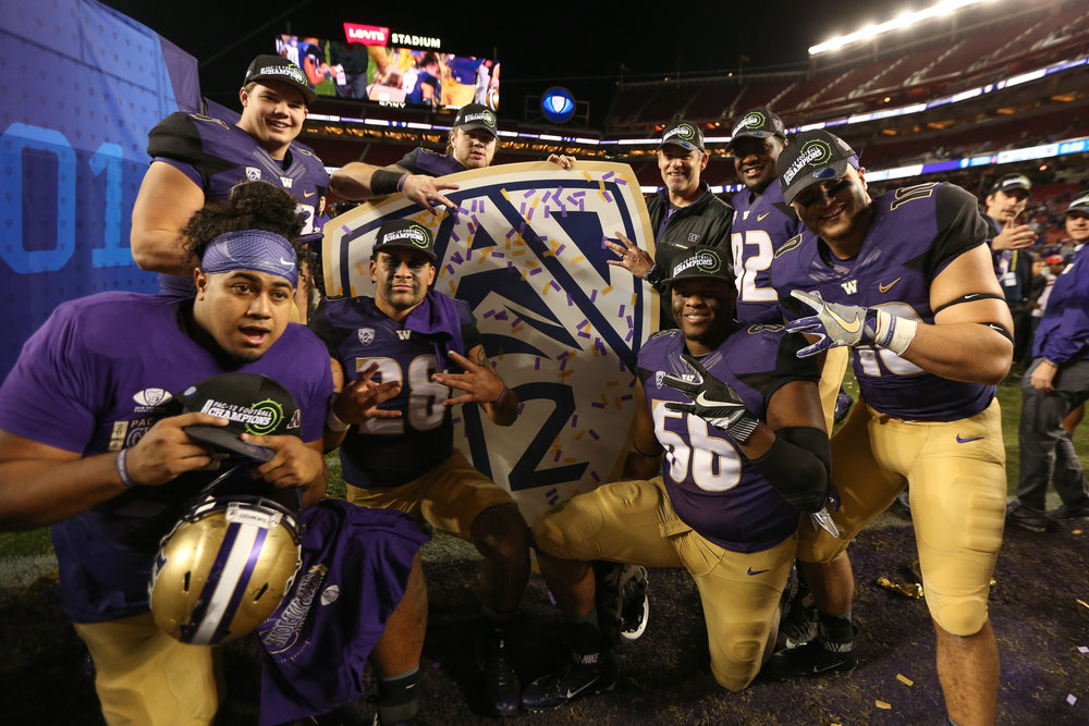 The Washington Huskies will be playoff-bound. (Photo by Cal Sports Media/AP)