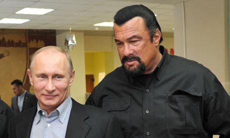 Steven Seagal says he is considering a change of citizenship to Russia. Photograph: Alexei Nikolsky/AP