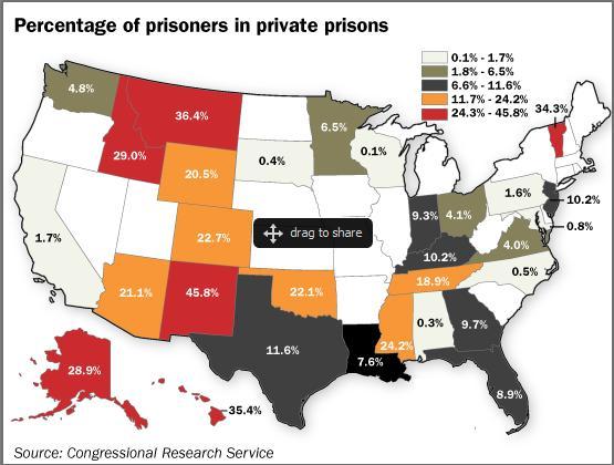 Map Of Arizona Prisons.Do Private Prison Companies Really Do It Cheaper And Better Bob