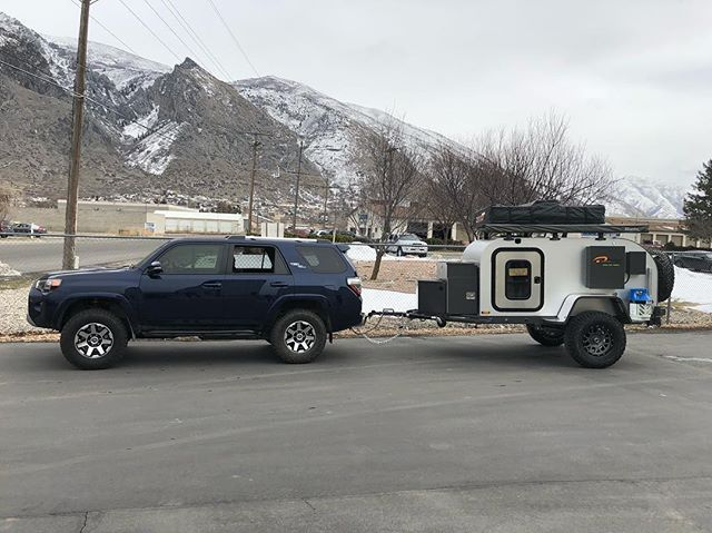 Yesterday's delivery! We love the opportunity we get to meet many of our customers! #moby1 #toyota #4runner #offroad #trdoffroad #teardroptrailer #overland
