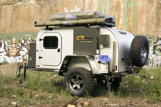 Moby1 expedition trailers. Designed, built, and tested in the USA. #usa #madeinamerica #moby1 #rhinorackusa #23zerousa #offroadtrailer #offroadteardroptrailer #jeep #4runner #tacoma