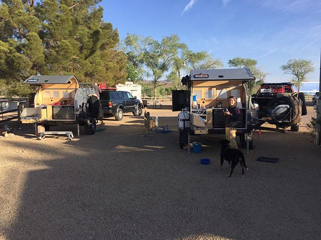 A few of our customers have become friends and decided to take a trip together with their Moby1s. If you have pictures of your Moby1 in use, send them to us and we'll be happy to share! #moby1 #offroadtrailer #offroadteardrop #chevy #toyota