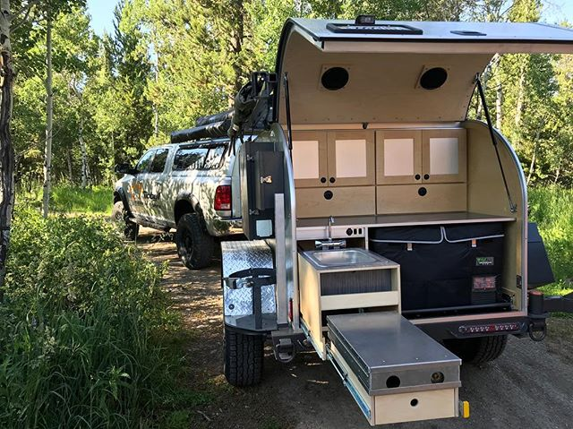 We delivered a refurbished XTR54 this weekend to Jackson Hole, Wyoming. . . . Our sink package is still free on all new orders. A $1,500 value! —————————————-// #moby1 #xtr #offroad #jacksonhole #yellowstone #yellowstonenationalpark #tetonnationalpark #wyoming #ram #ramtrucks #ram2500 #cummins #dieseltrucks #dieselbrothers #aevconversions @aevconversions #offroadtrailer #offroad #campingtrailer #camping
