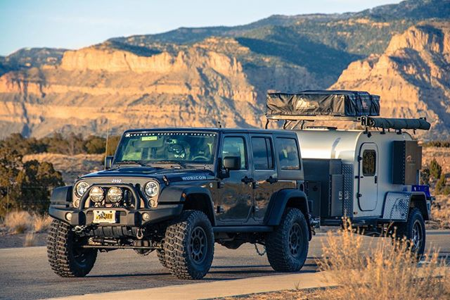 Moby1 XTR and AEV JK. We're interested to see how the new #jeepjl tows! ——————————————// @aevconversions @jeep #aevconversions #jeep #jeepwrangler #moab #utah #utahphotographer #bookcliffs #adventurelifestyle #camping #campingtrailer #campingtrip #trailercamping #jeepcamping #outdoorlifestyle #jeepphotography #moby1 #xtr