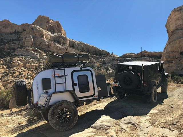 We love Moby1 because of all the places it can take you. ——————————————- #utahphotography #moby1 #jeeptrailer #jeepcamping #sanrafael #offroad #overland #jeep #aevconversions @aevconversions @23zerousa