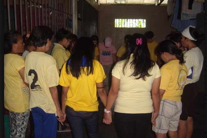 Prayer led by Pastora Eugene