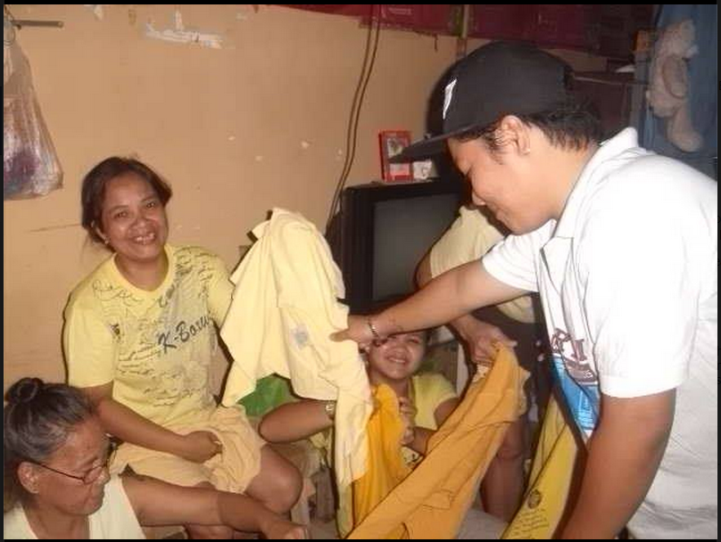 Giving Free Clothing (T-shirts)