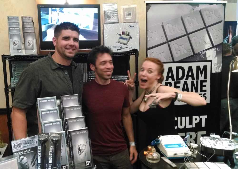 The fantastic Wane Anderson from FaceOff Season 4, and also Adam and Jessica being dorks.