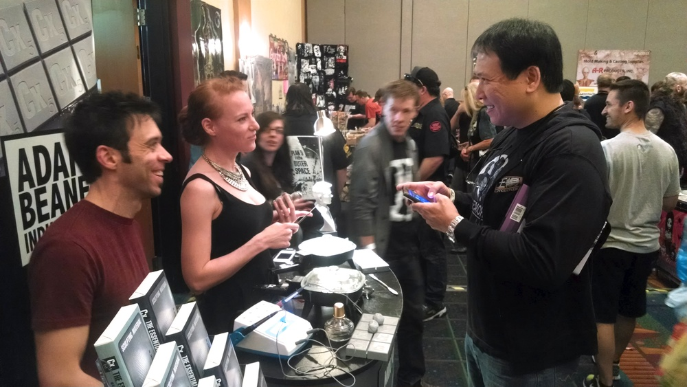 Jessica Dru and Adam hang out with the great Steve Wang.