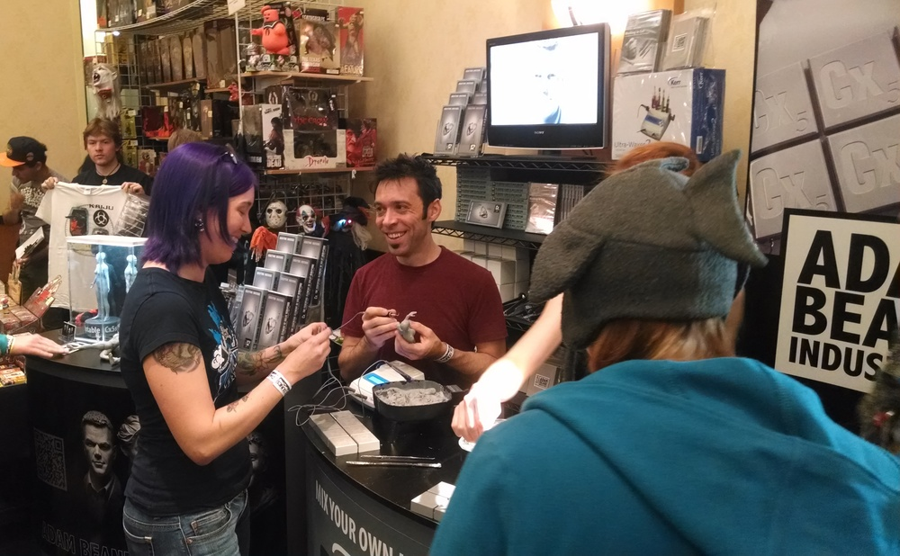 Adam demos sculpting one of the roughs and Emily Coleman, author of Creature Sculpt, gets her hands in Cx5s for the first time.