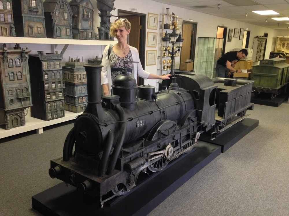 The New Deal Studios train from Hugo! It actually got crashed through a miniature station for that effect...