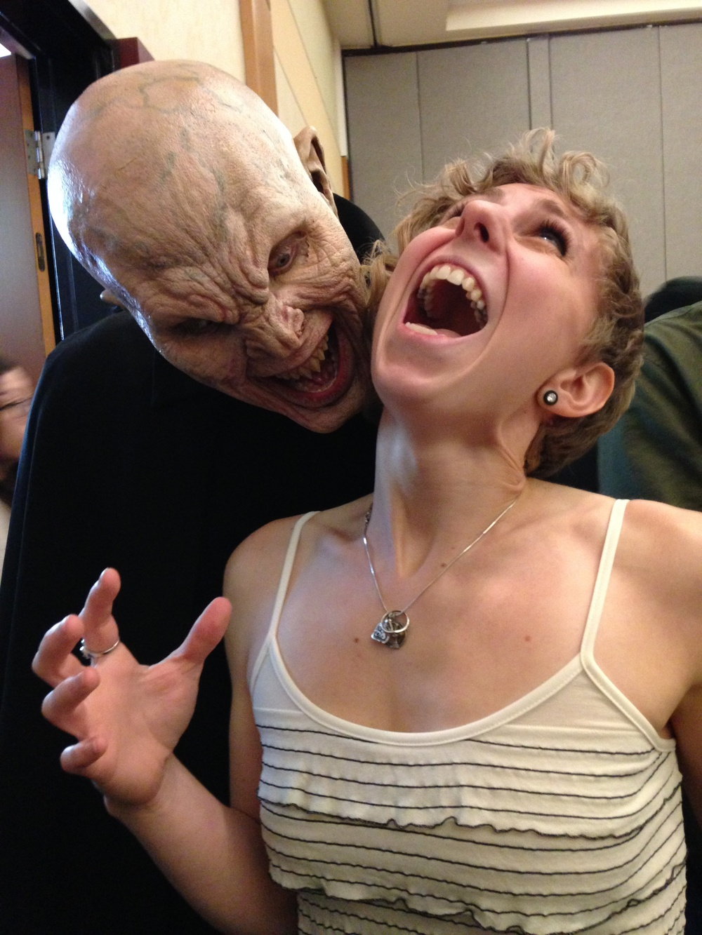 Matt Cable as The Master from Buffy the Vampire Slayer attacks Alexis!