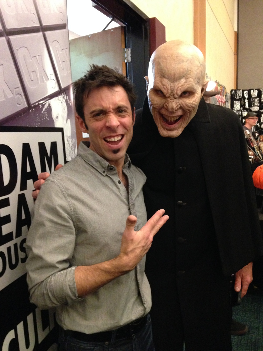 Adam Beane with Matt Cable as The Master from Buffy the Vampire Slayer.