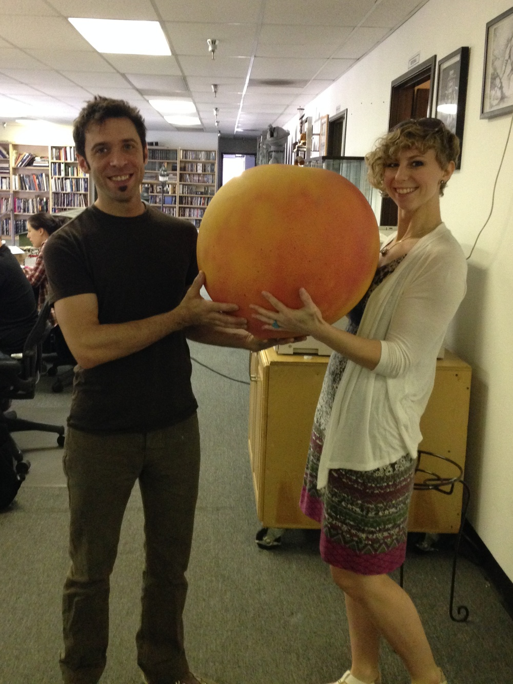 It's very convincing, even a little squishy! From James and the Giant Peach at New Deal Studios.