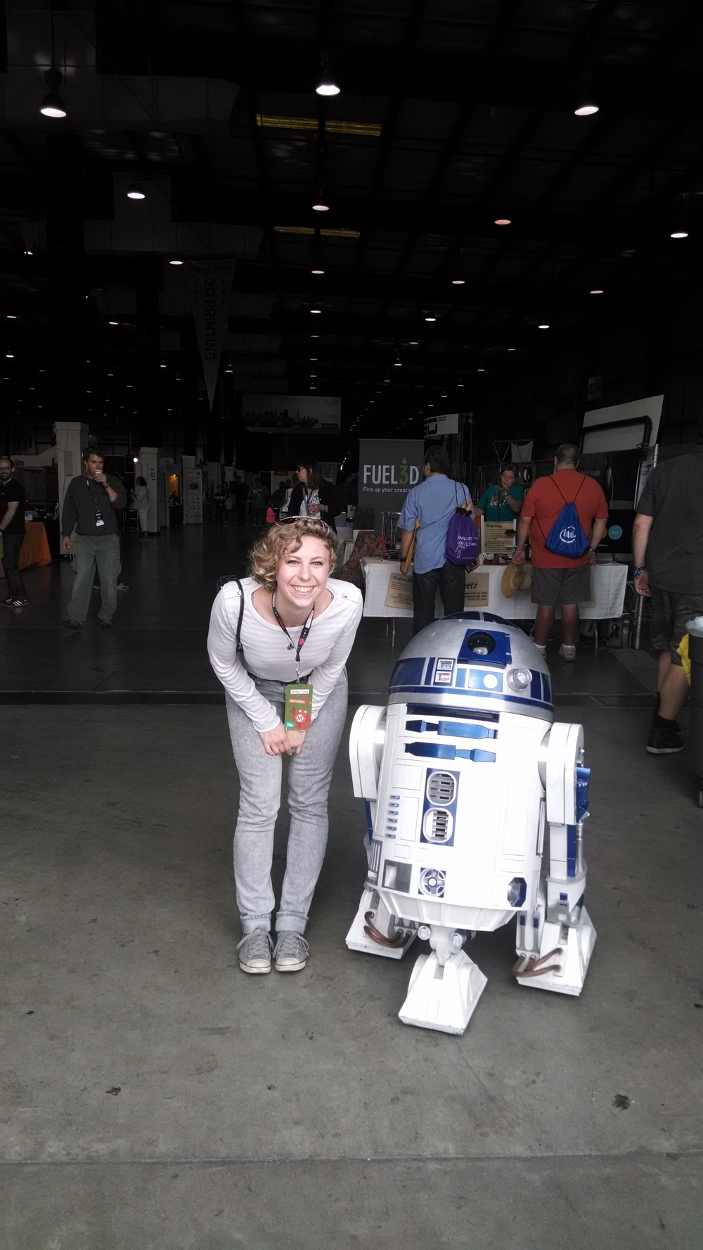 Alexis, thrilled to be meeting R2D2.