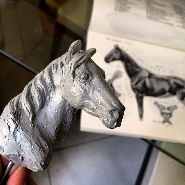 Igor Gosling - Horse study head