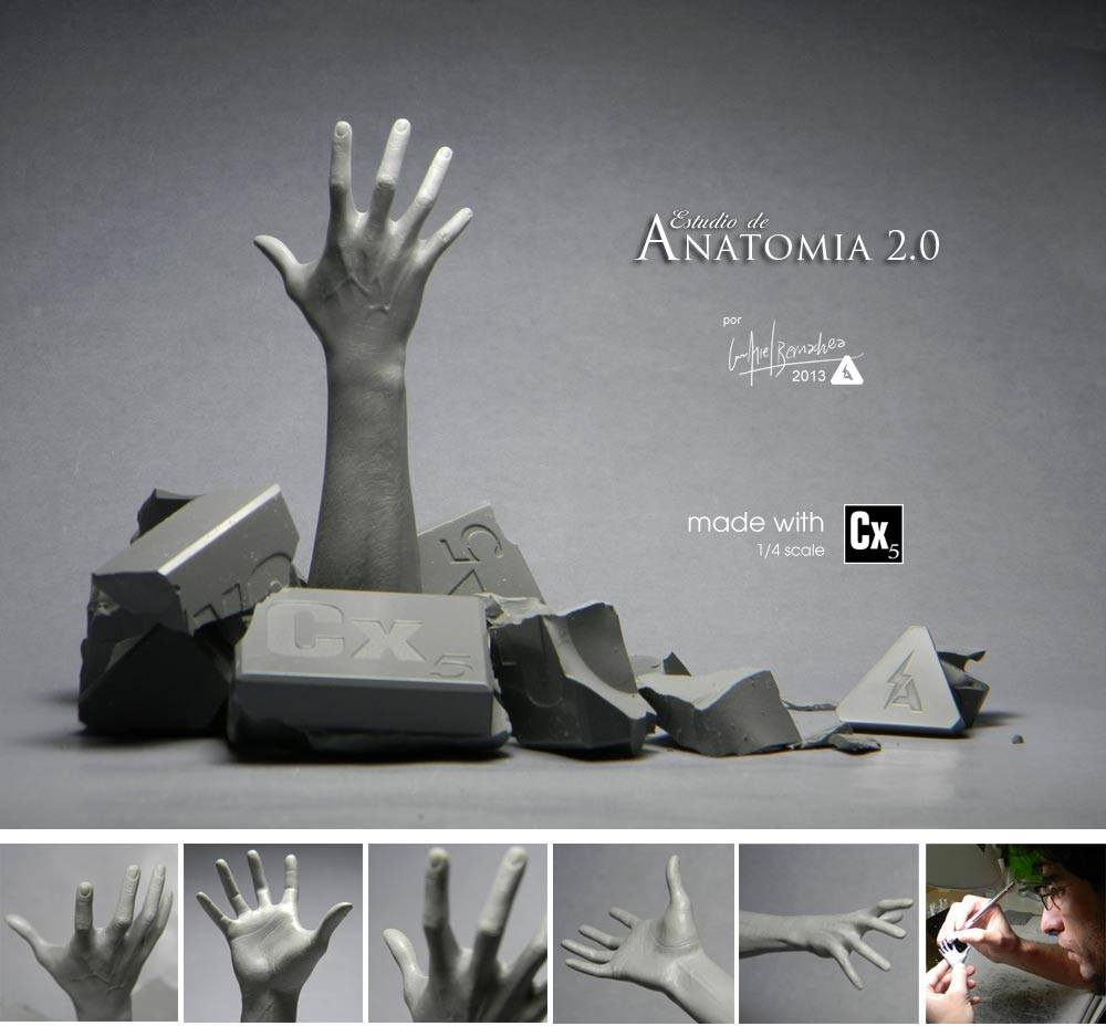 Luis Ariel Bernachea - 1:4 scale hand
