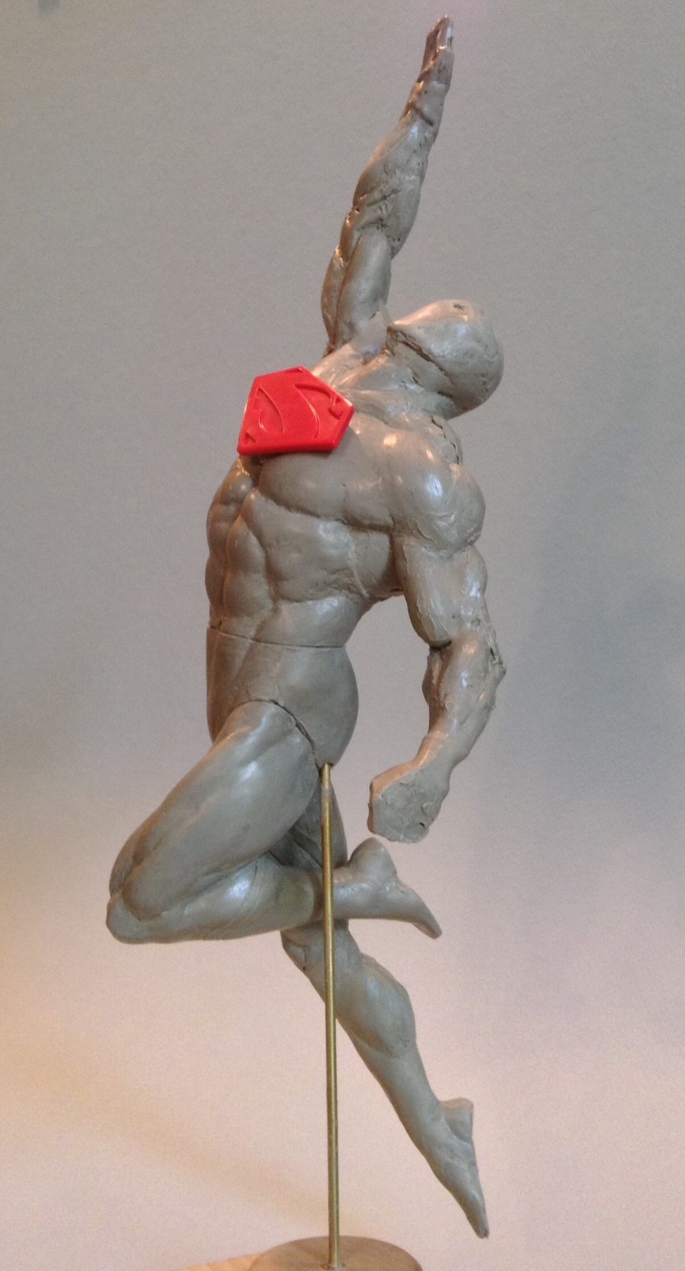 Leandro Souza - Flying Superman in progress side view