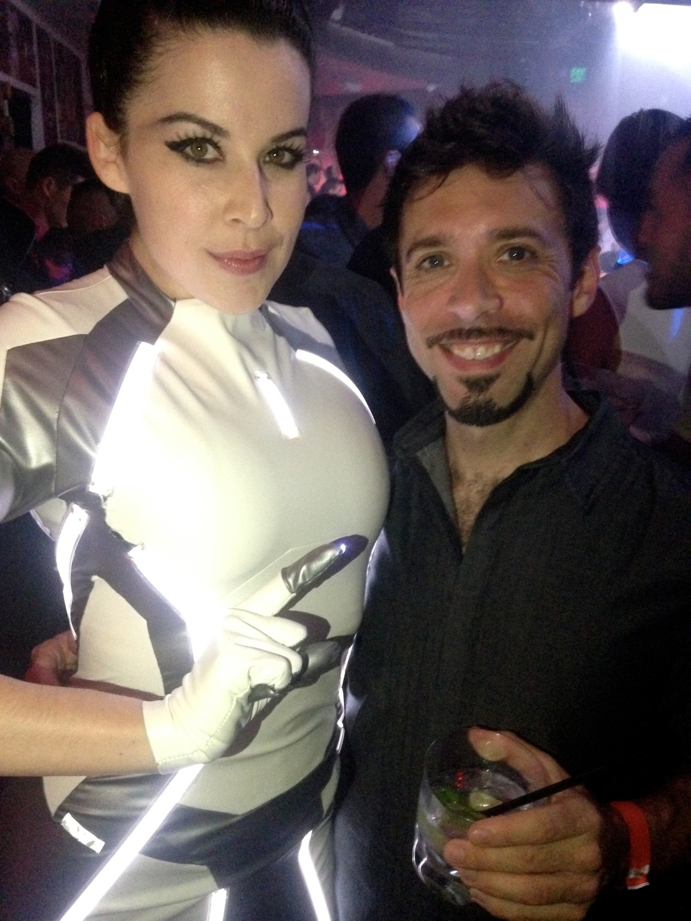 The fantastic Miss Kit Quinn in her Siren from Tron cosplay with Adam Beane.