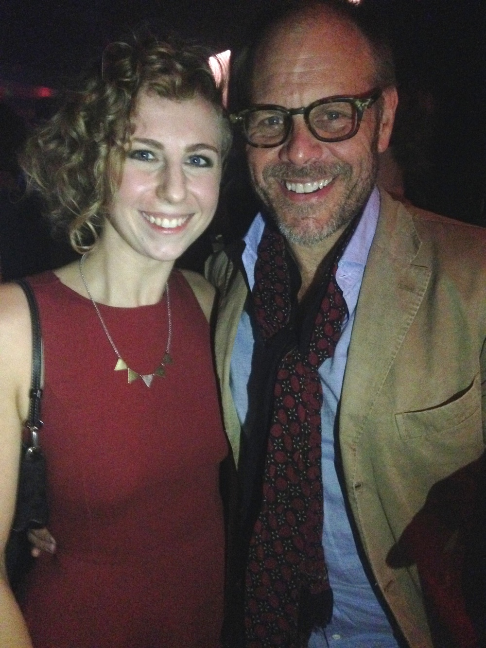 Alexis Ettner with Alton Brown