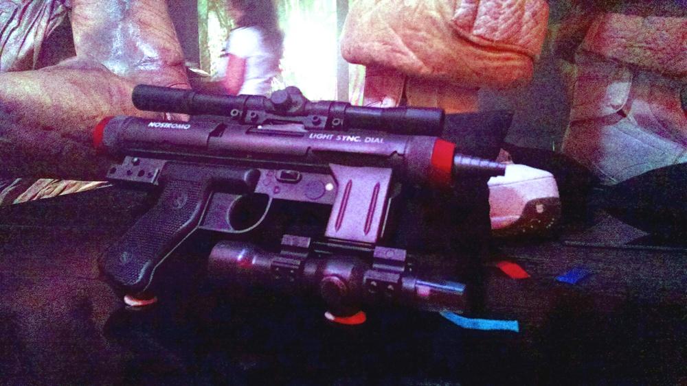 What's this? The Nostromo laser pistol.