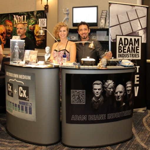 Alexis and Adam rocking the booth