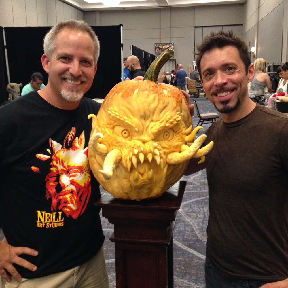 Jon Neill was our booth neighbor and created a great pumpkin sculpture over the weekend