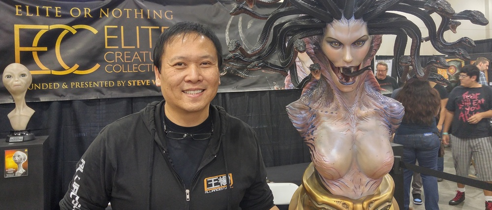 Steve Wang with Medusa from Elite Creature Collectibles