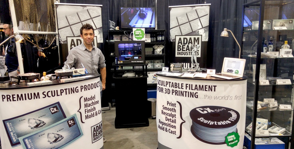 Adam Beane at the new booth