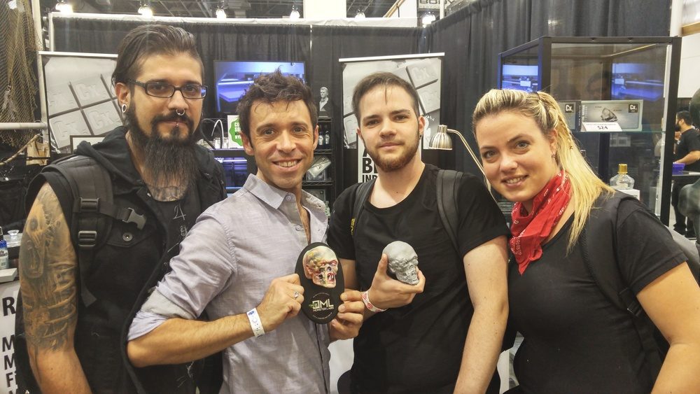 The wonderful folks from Monsterlabs presented Adam with this sculpture!