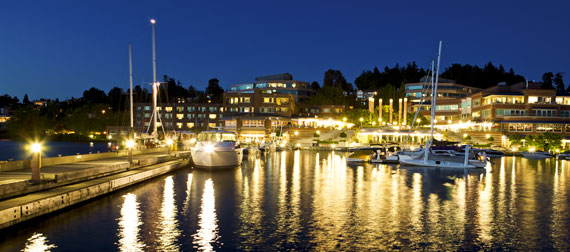 My beautiful waterfront town.  Kirkland, Washington