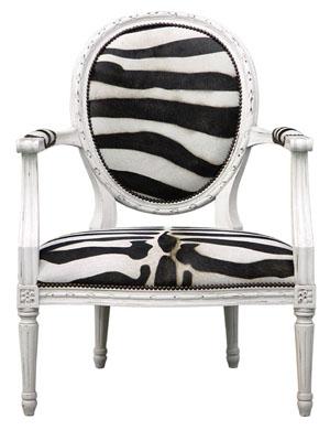 Zebra print Sophie Lounge Chair Via Oly Studio