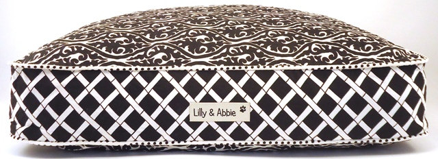 Lilly & Abbie Custom Beds (available in many fabric choices)  Via Etsy.com