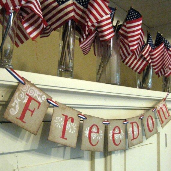 Freedom banner via Etsy.com/bekahjennings