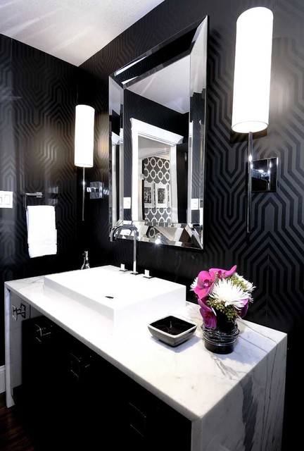 There's nothing more romantic than an elegant powder room VIA Atmosphere Interior Design