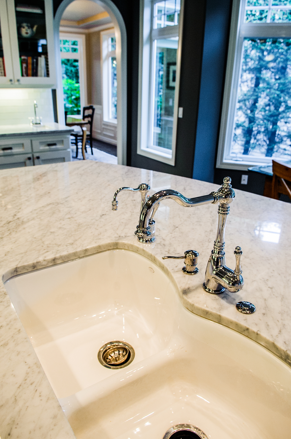 Main sink gets new life with few faucets.
