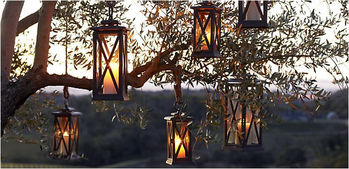 Candlelit lanterns turn everyday into special springtime whimsy