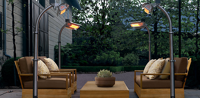 Patio Heaters from Restoration Hardware
