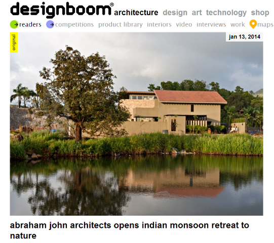 Monsoon Retreat on Designboom