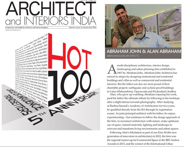 Architect & Interiors India HOT 100, March 2014