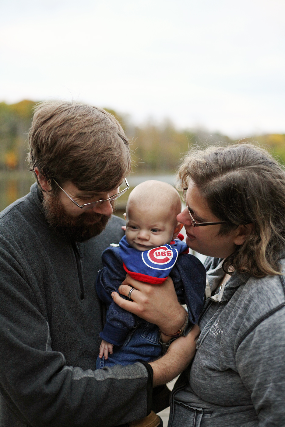 Sam, Jerome and Naomi in October 2016
