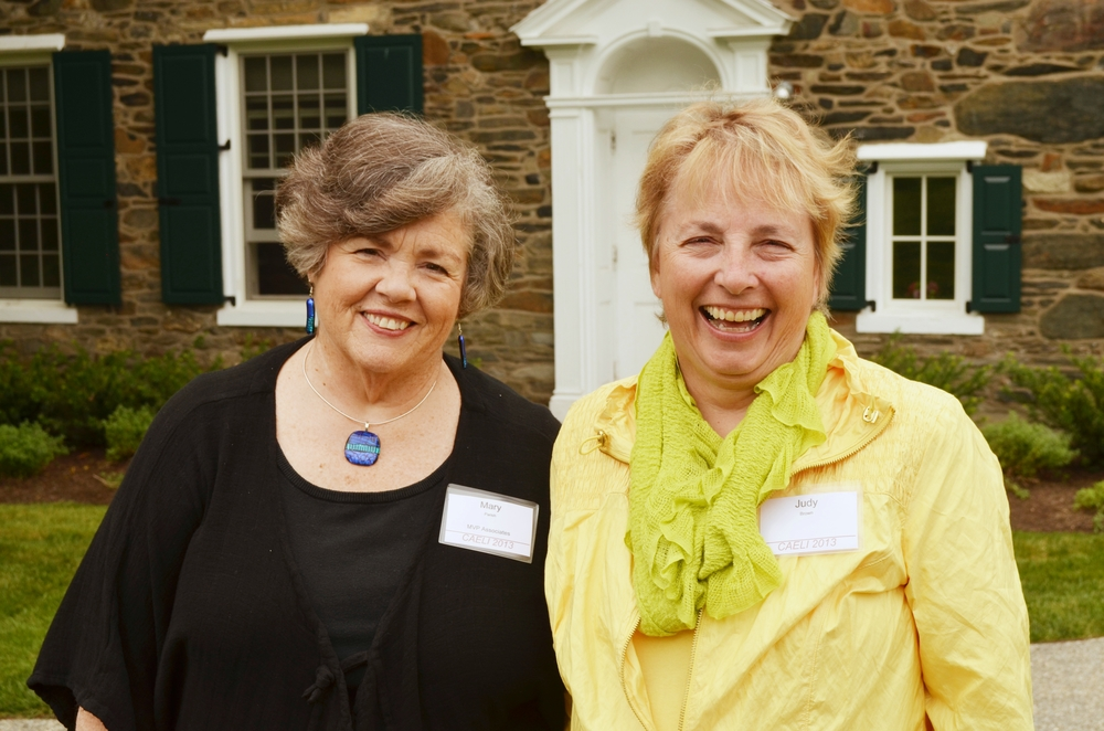 Mary Parish and Judy Brown at Bryn Mawr during the CAELI program for Community Arts leaders