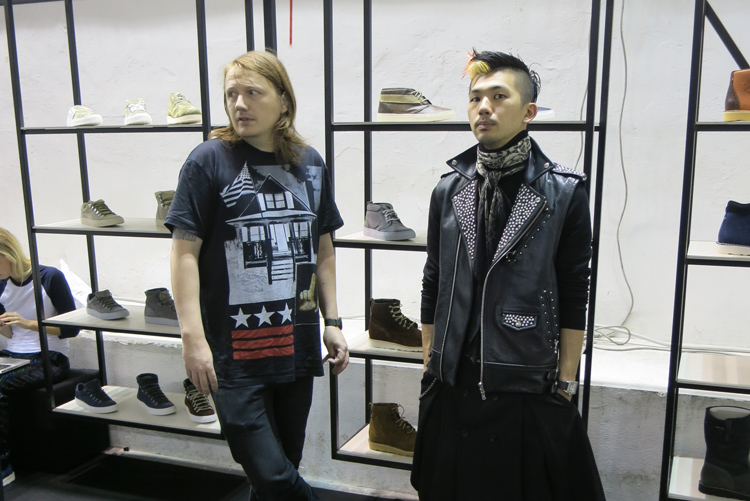 Erlend from BA and Reiji from GMT representing Diemme at Pitti Uomo