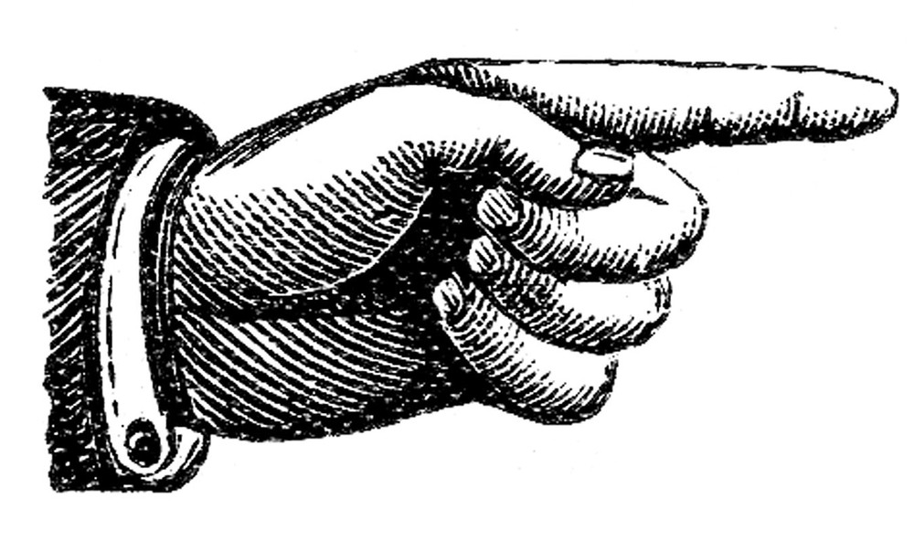 Hand pointing. Article about inbound marketing.
