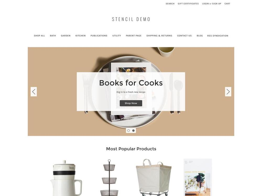 "Bigcommerce's ""Cornerstone"" theme"