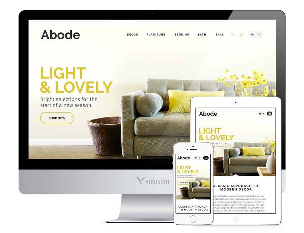 This Volusion theme looks great - but it'll cost you £575+VAT to use it!