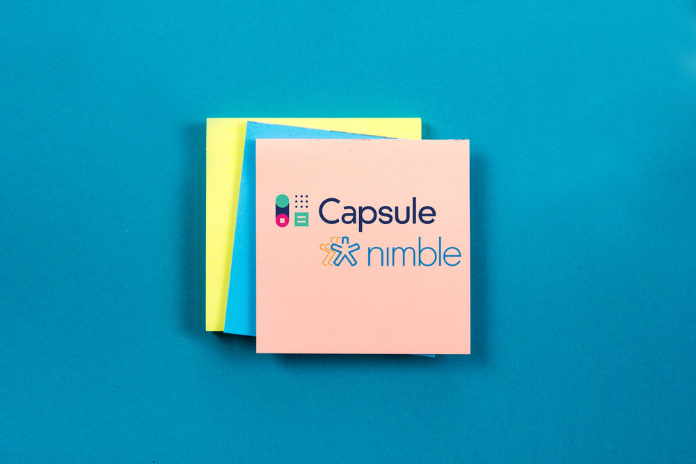 Capsule vs Nimble - image of the two logos accompanying our comparison review