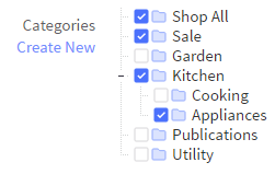 In Bigcommerce, product categories have to be applied manually.