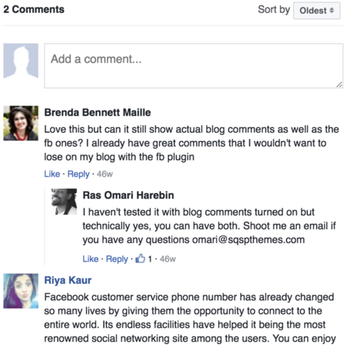 Add Facebook comments to Squarespace blog posts